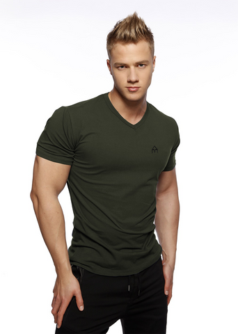 Attila's Fitted V-Neck - Khaki