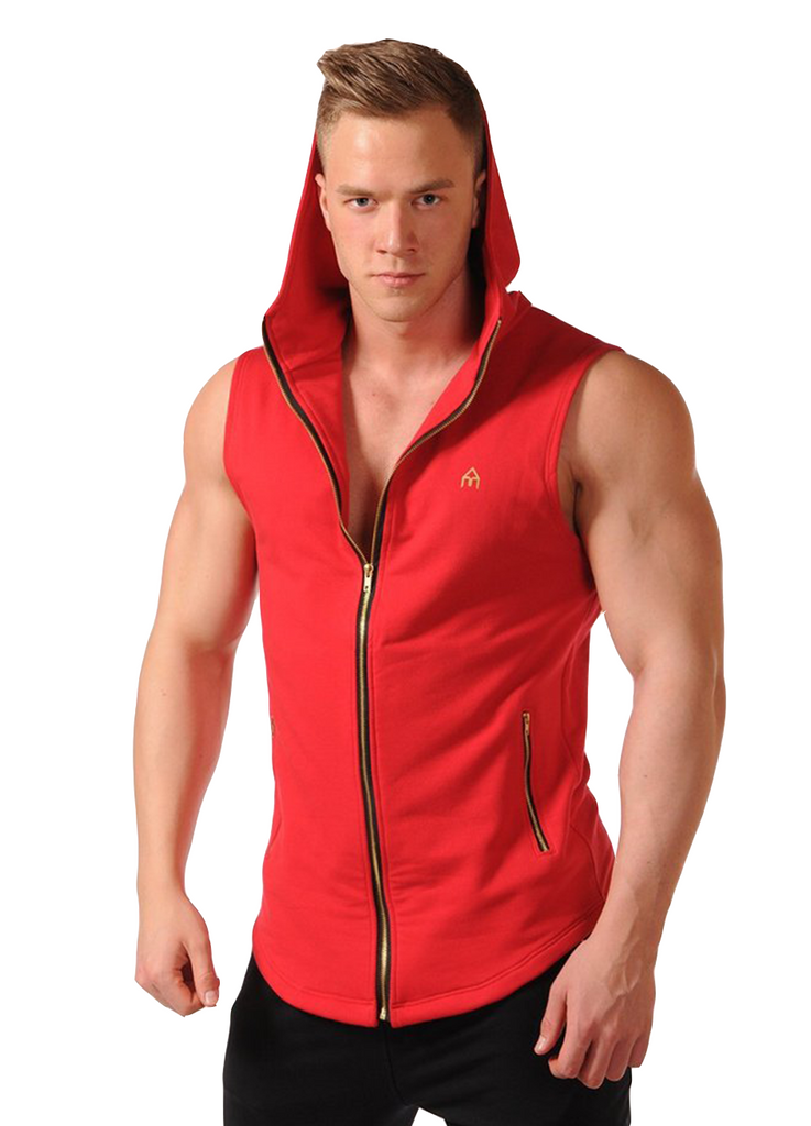 Attila's Sleeveless Lifestyle Hoodie - Red
