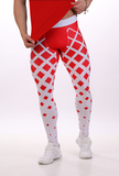 ATTILA'S COMPRESSION TIGHTS - RED FADING SQUARES