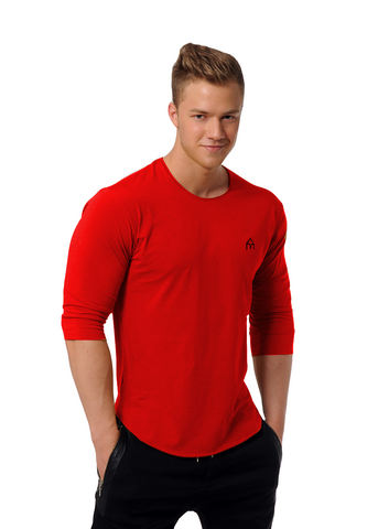 Attila's ¾ Sleeve Lifestyle Shirt - Red