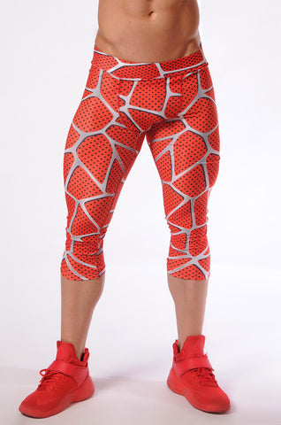 Attila's 3/4 Compression Tights - Super Red