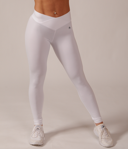 Medium Rise Leggings - White