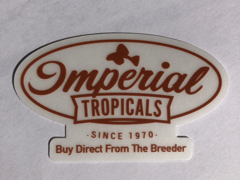 Imperial Tropicals Tank Stickers - Imperial Tropicals