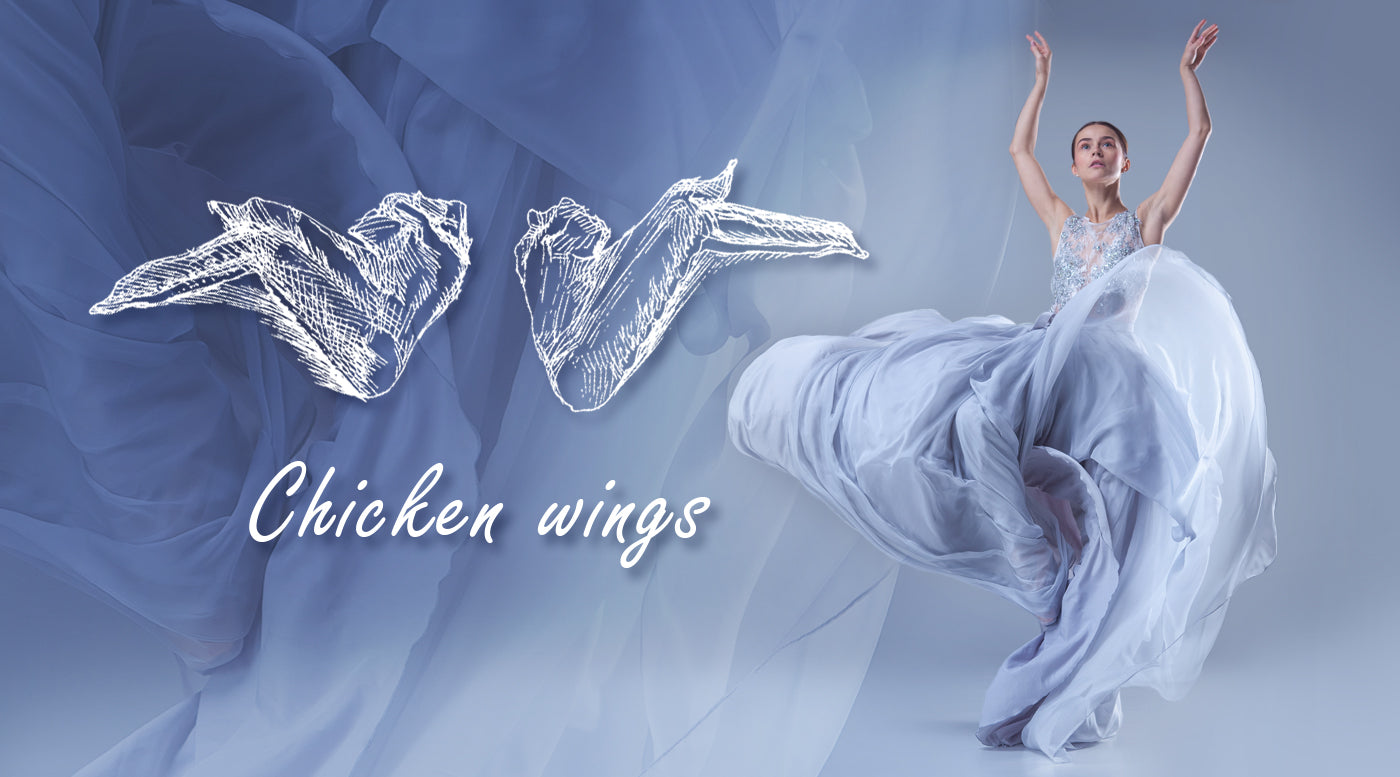 Chicken wings, ballet poses