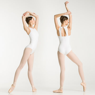 girls white ballet leotard