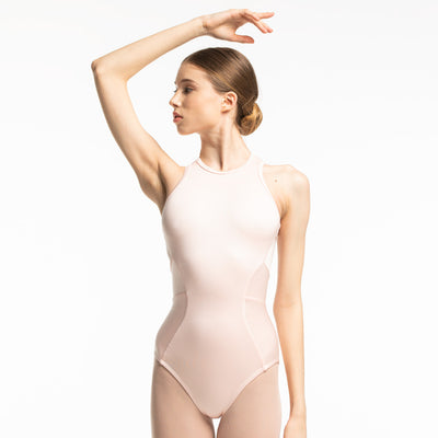pearl color leotard for dancers and ballerinas
