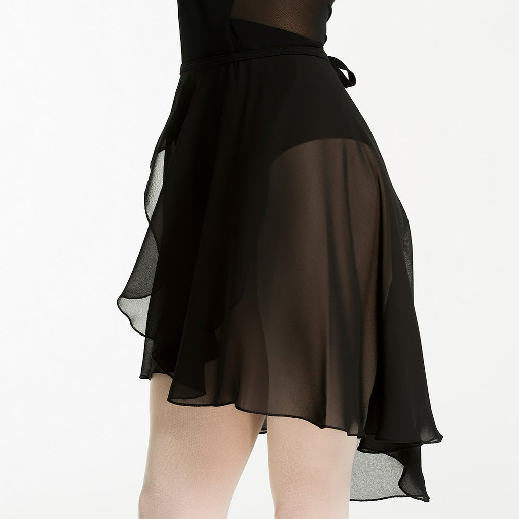 Zarely middle ballet skirt in black color