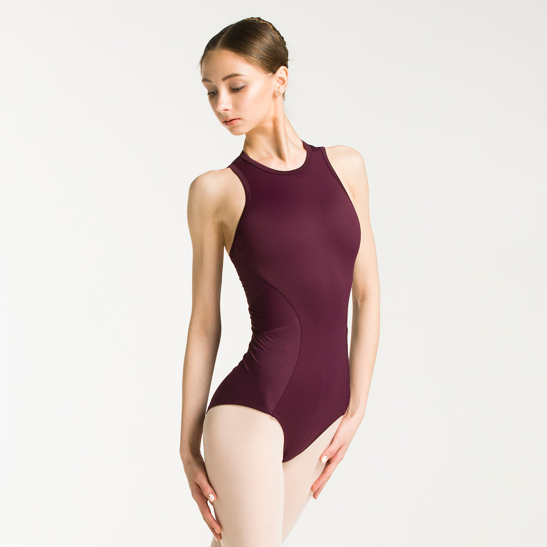 burgundy leotard for dancers
