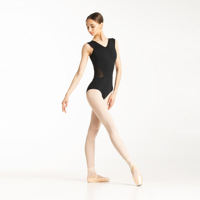 mesh ballet leotards, black color