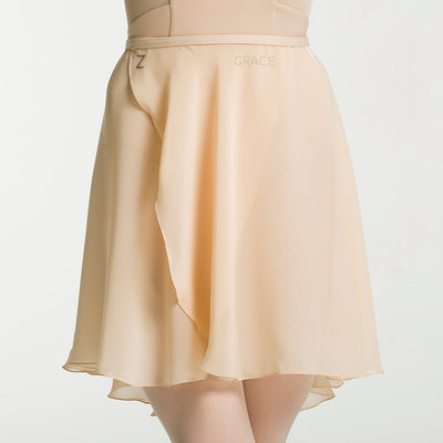 Zarely middle nude skirt with your name
