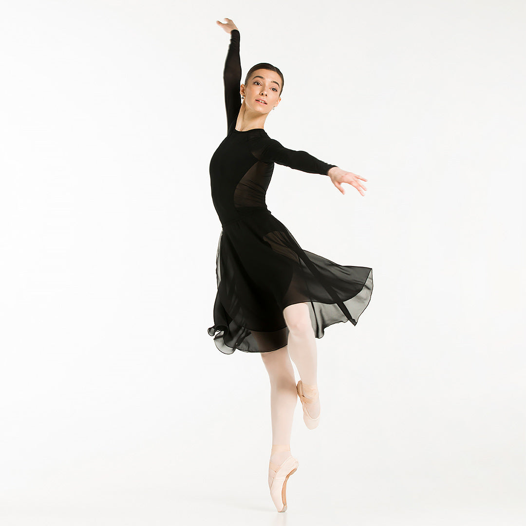 ballet wrap skirt for adults, black color