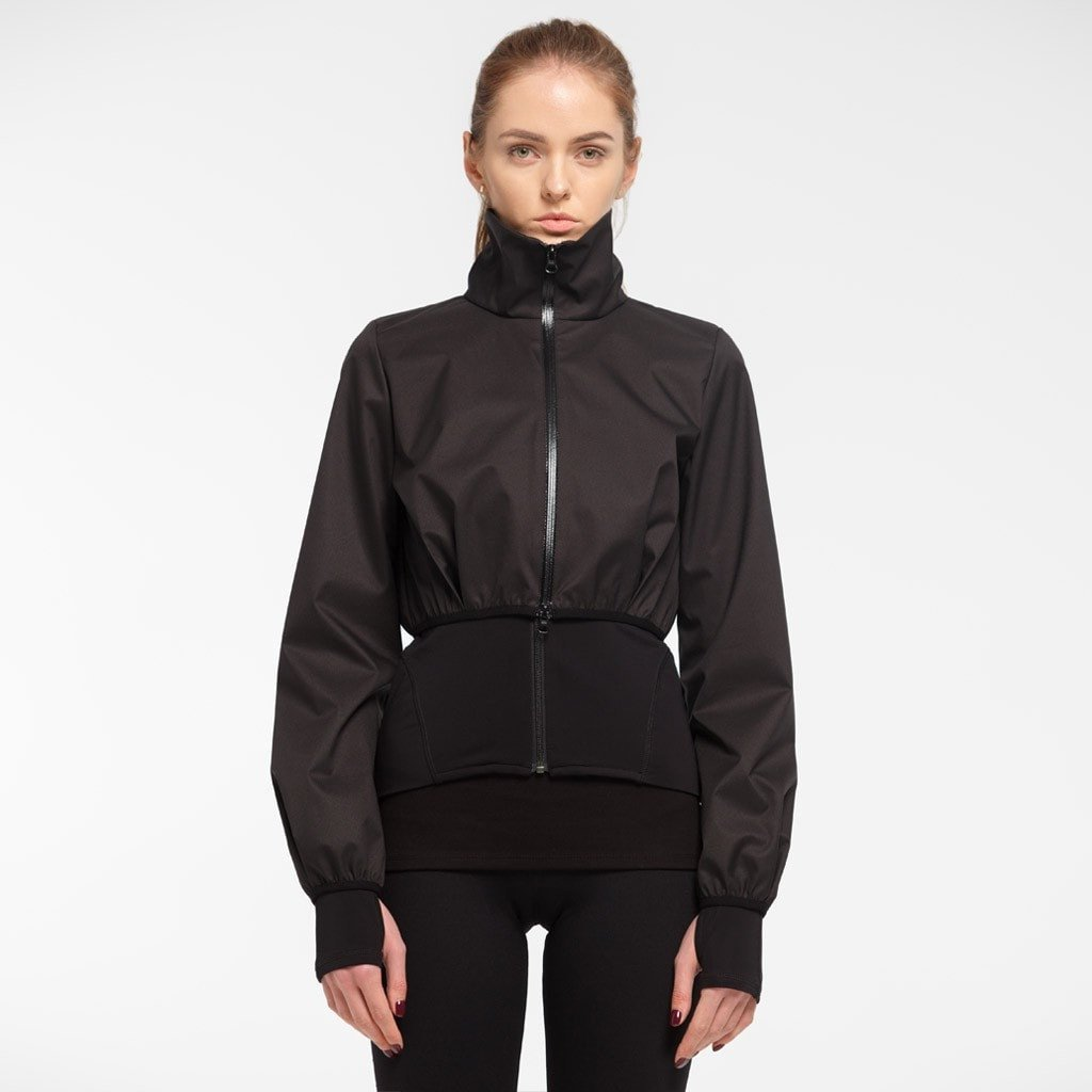 Zarely jacket-women Sonia Double Layered Black Jacket