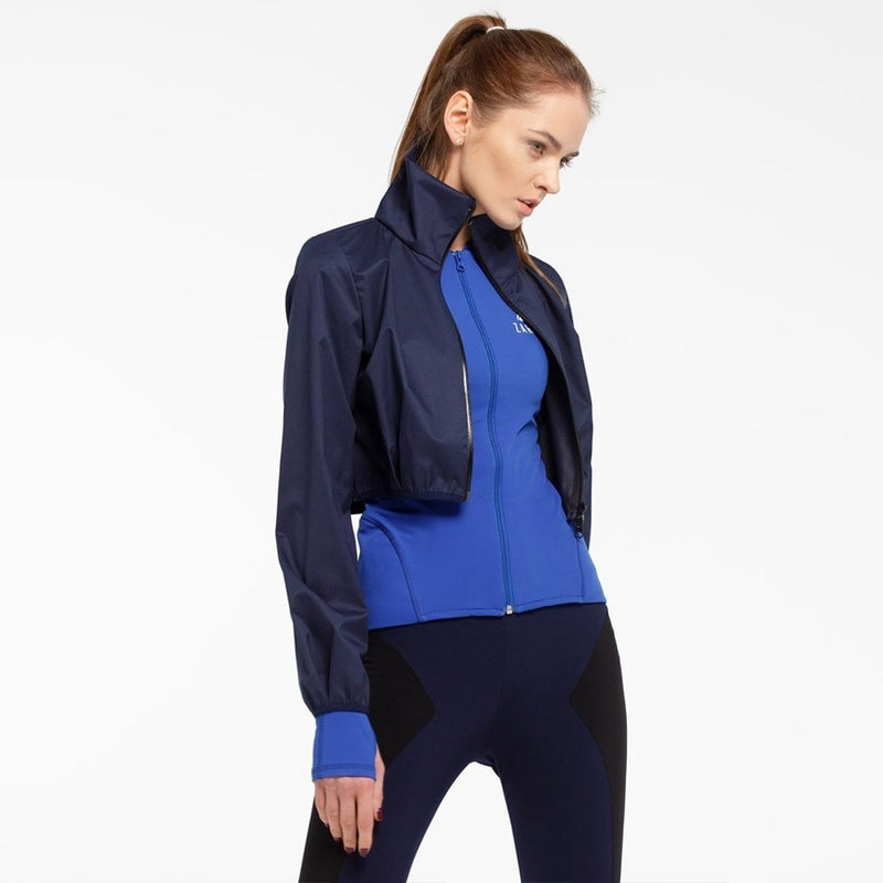 Sonia Double Layered Blue Jacket
