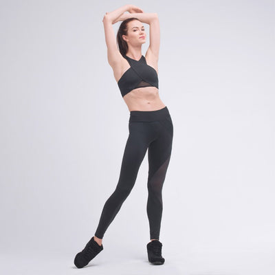Zarely leggings-women Ida Assymetric Side Cross Leggings