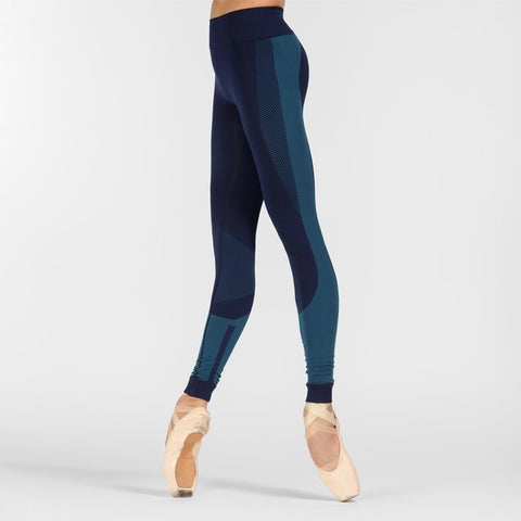 Maia Blue Seamless Leggings