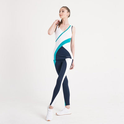 Zarely leggings-women Yuriko Green Detail Leggings