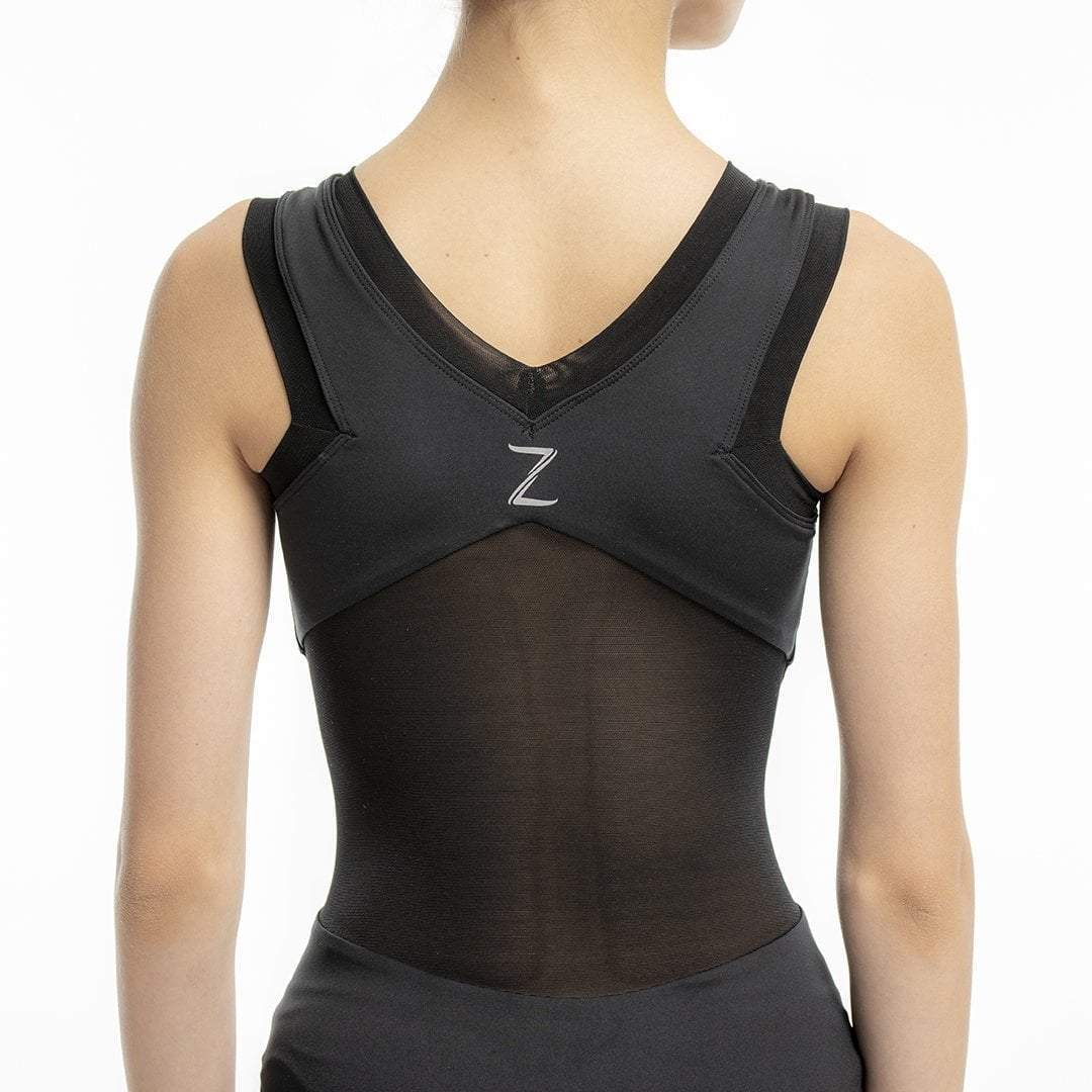 Alicia Black Mesh Leotard for kids