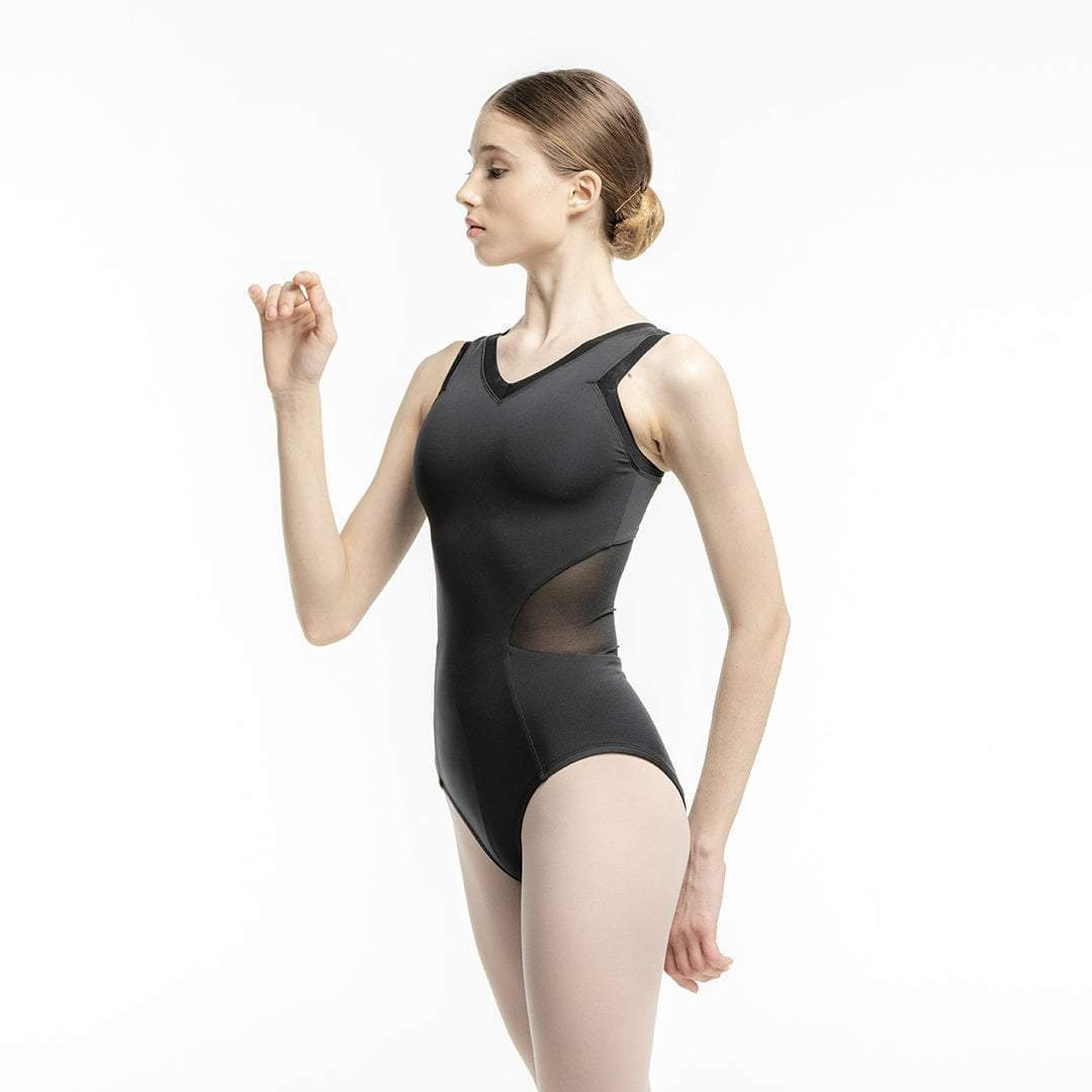 Zarely leotard-teens TS Alicia Black Mesh Leotard for teens
