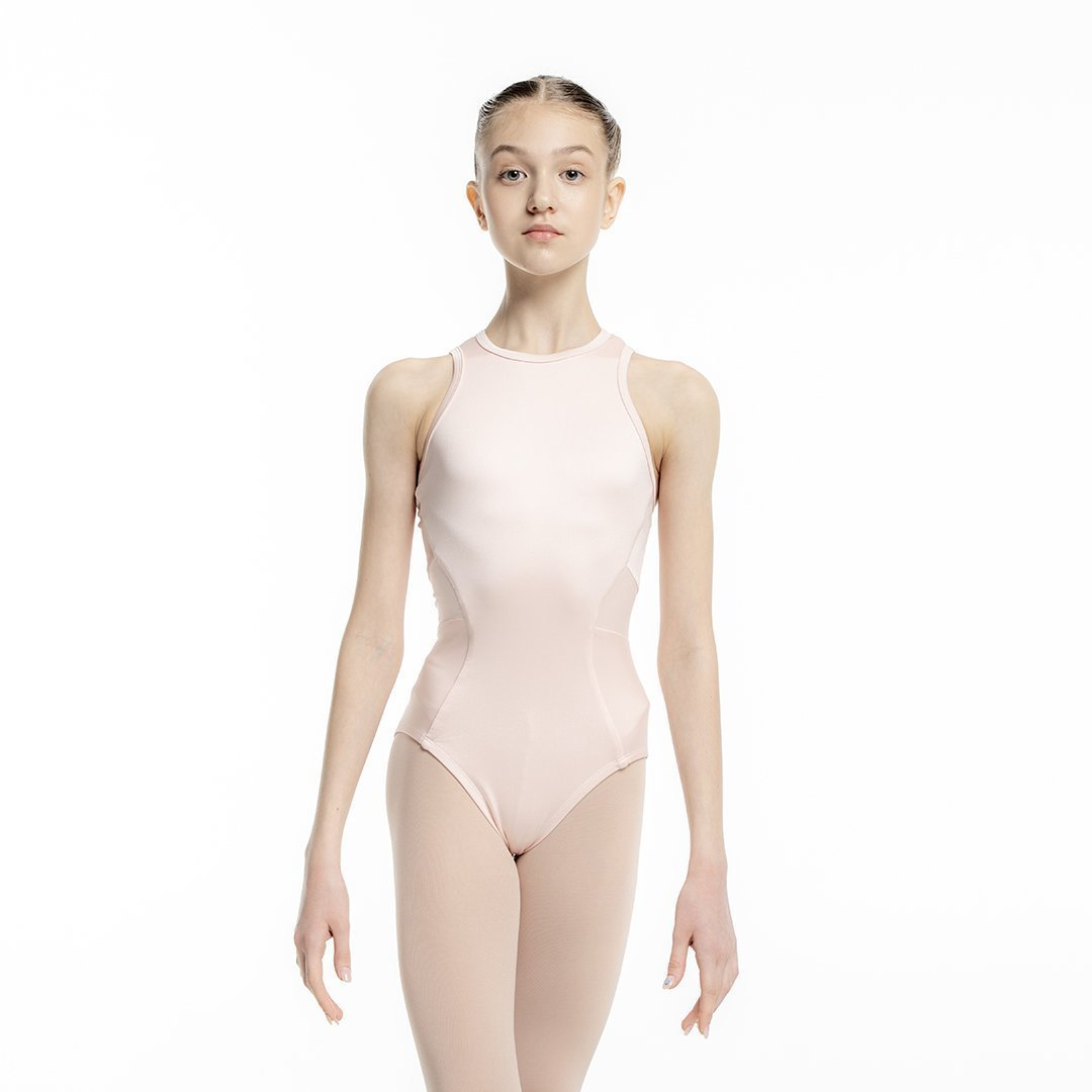 Ana Leotard Pearl Peach for Kids