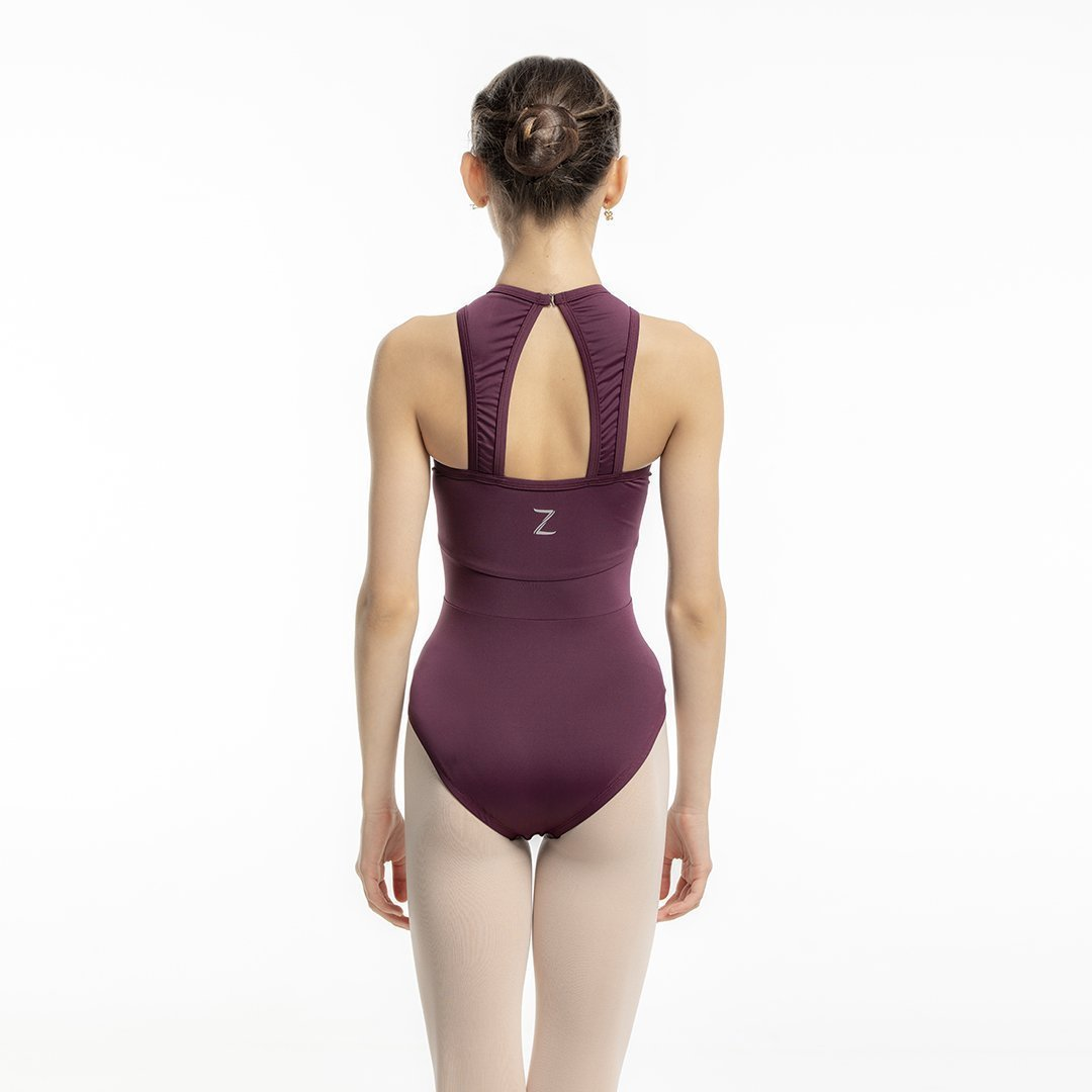 Ana Burgundy Leotard for Kids