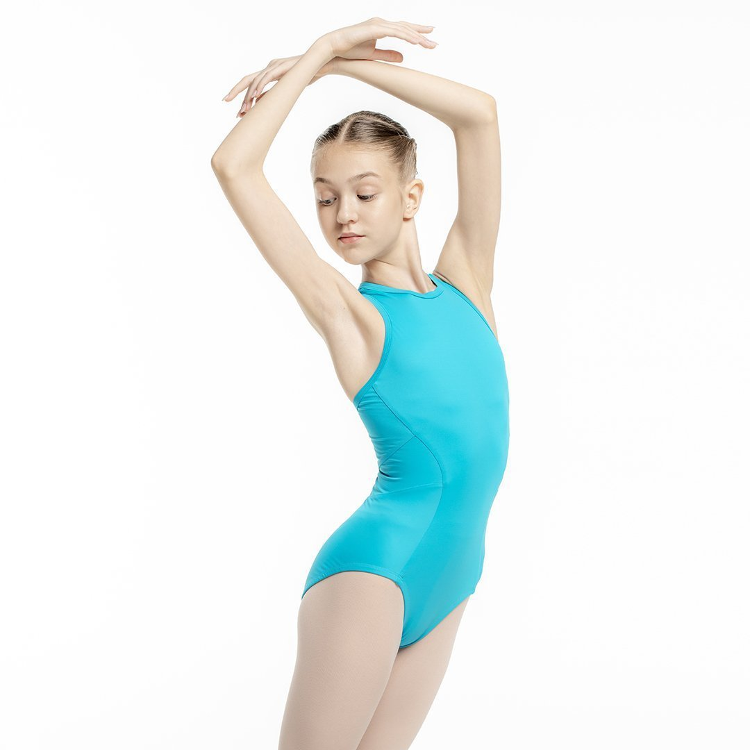 Zarely leotard-kids CHP / Turquoise Ana Colored Leotard for kids