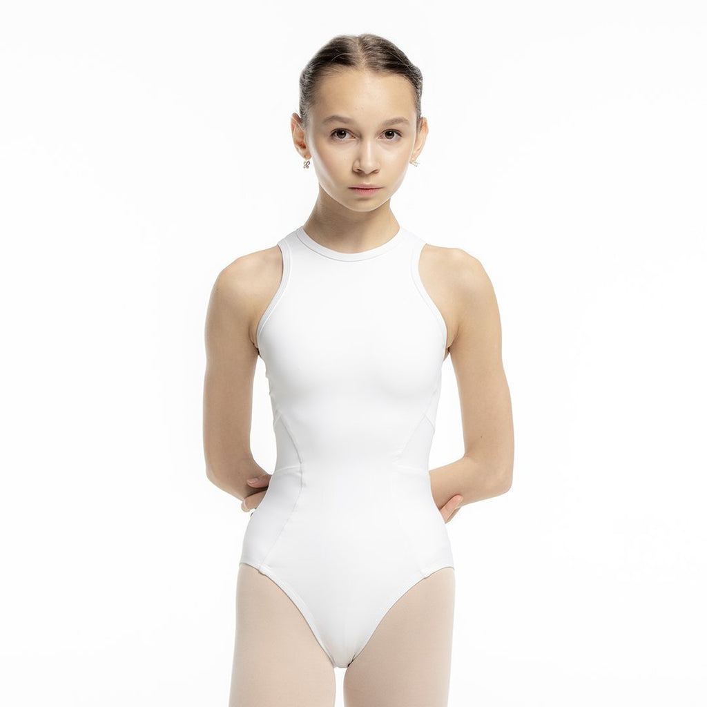 Zarely leotard-kids CHP / White Ana Colored Leotard for kids