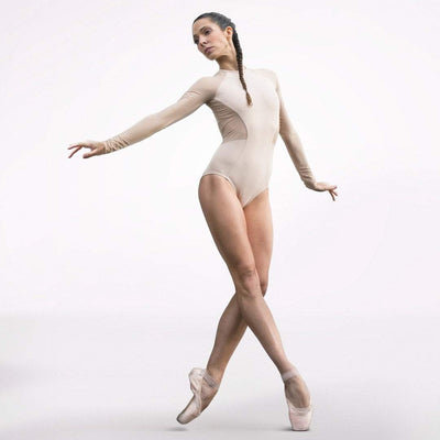 ballet leotard in nude color, leotard
