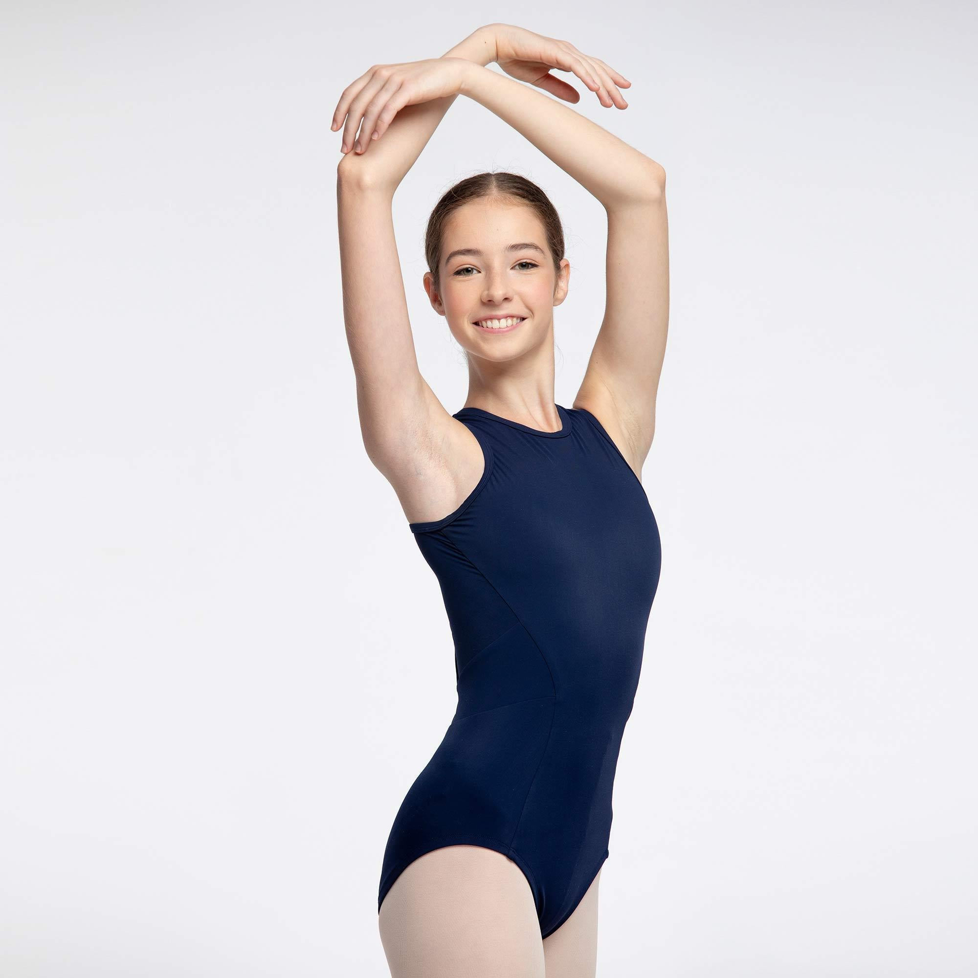 Noelani Cross Back Leotard for teens