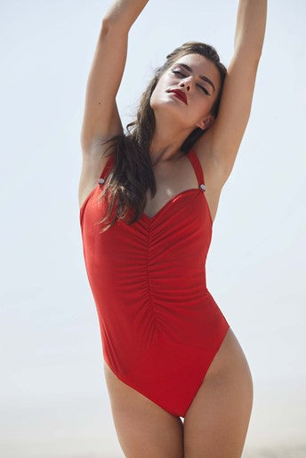 Bettie Page Honey Red Swimsuit