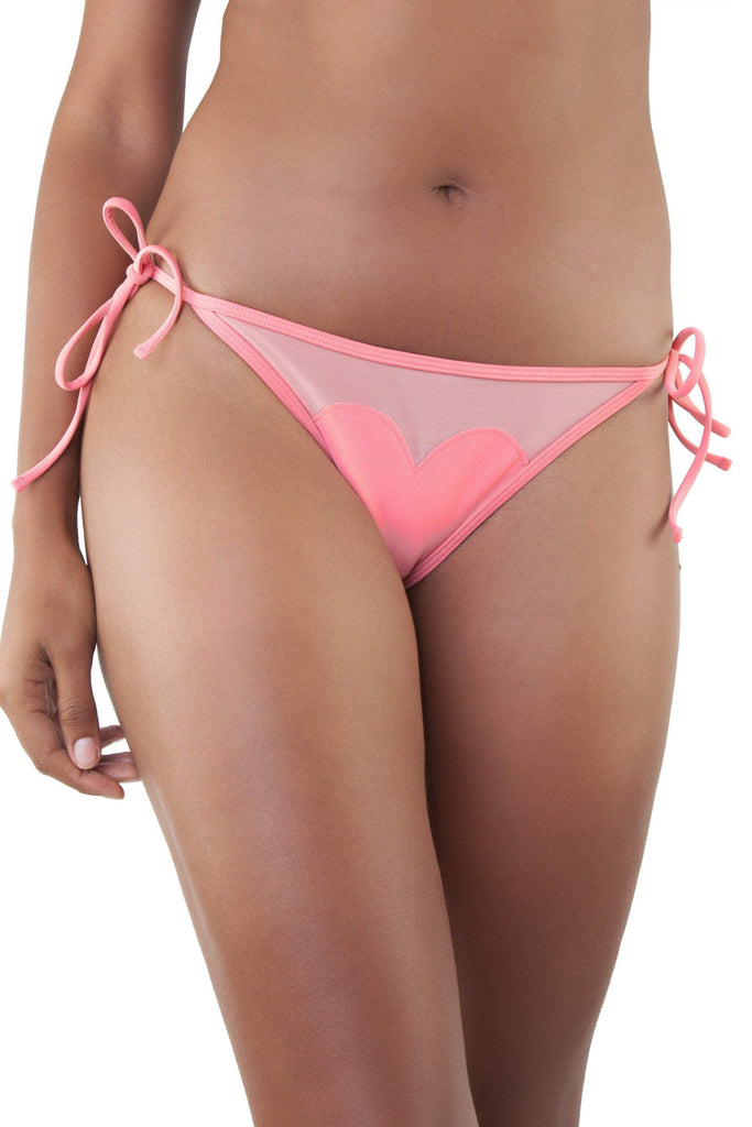 Peek & Beau Grapefruit/Watermelon Heart Bikini Brief