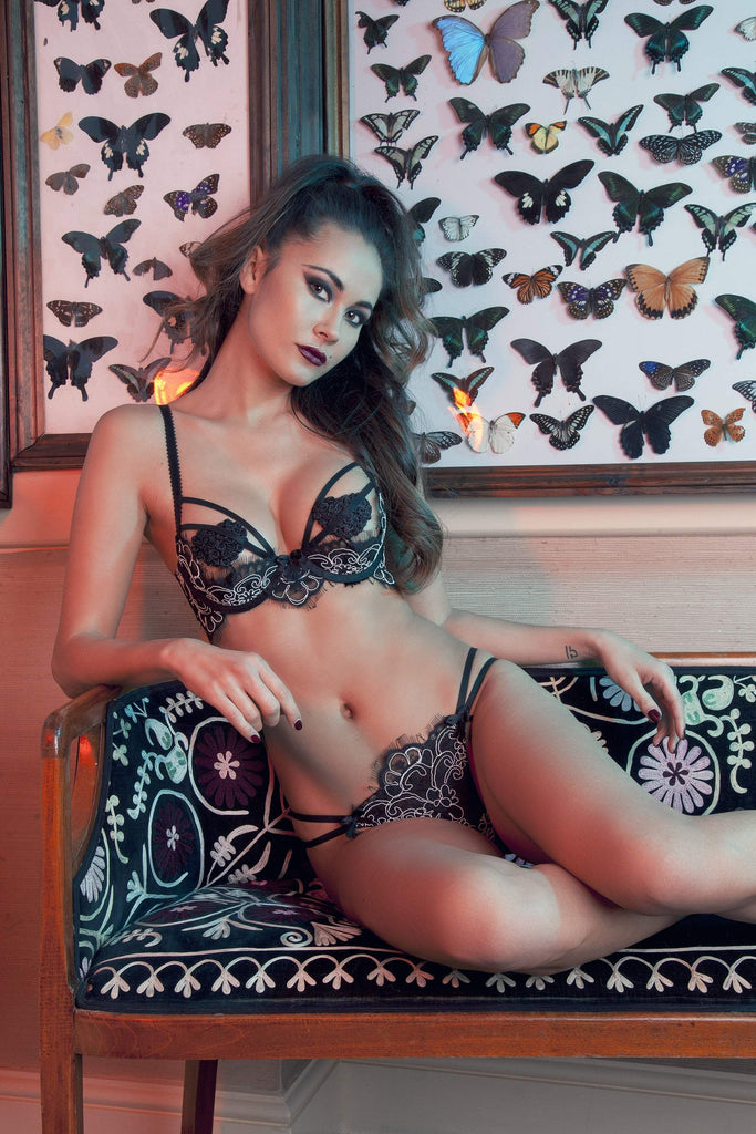 Ruth Corded Lace Demi Cup Bra A-D cups