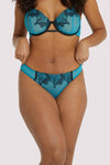 Playful Promises Tiger Blue Thong