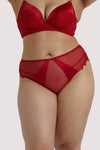 Playful Promises Melina Red High Waist Curve Brief