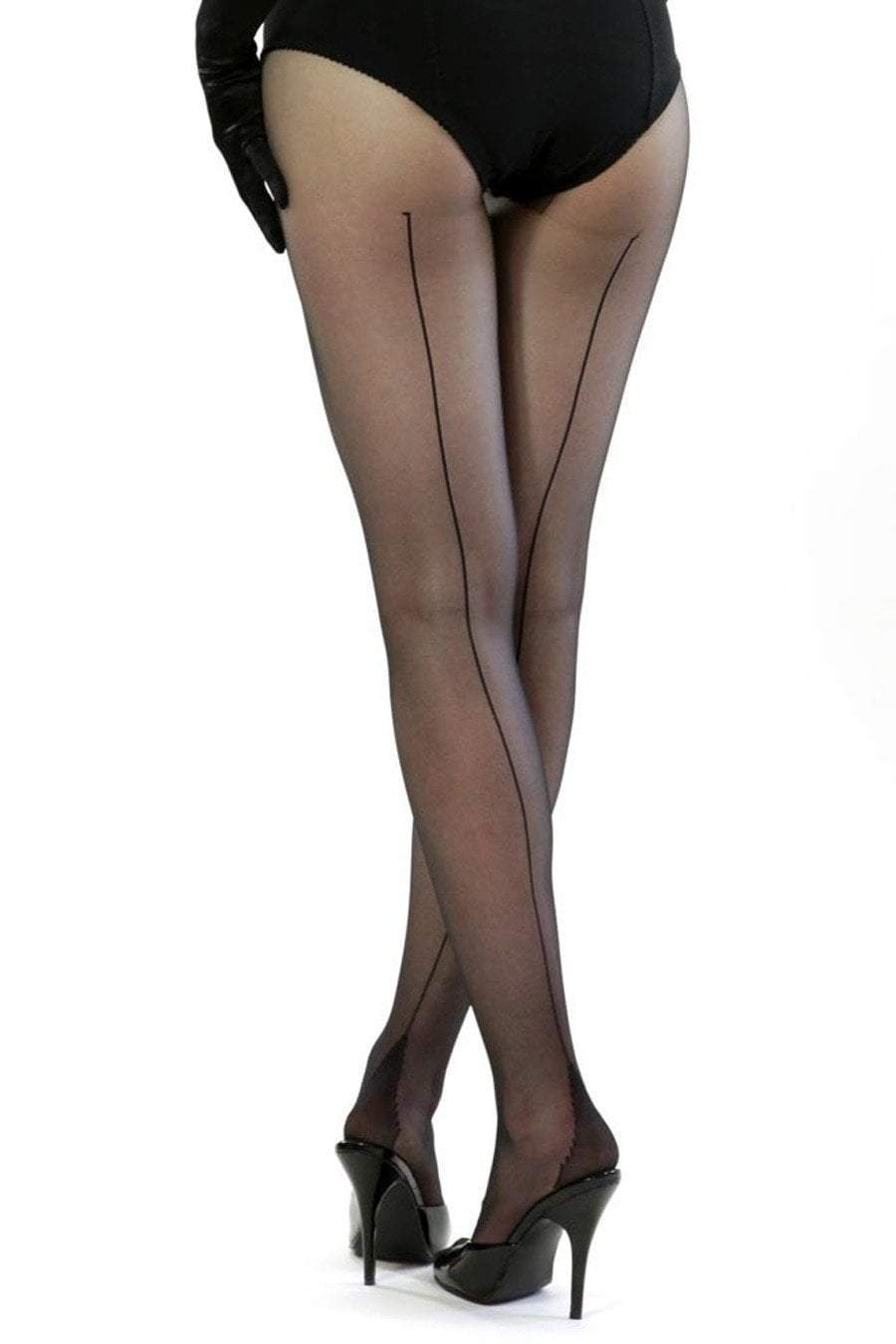 a80f934cd73 retro seamed stockings black sheer tights hosiery what katie did