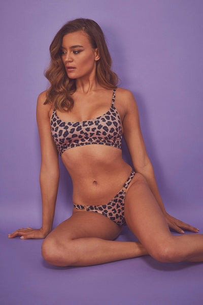 9de740133f Wolf & Whistle Brown Eco Leopard Bikini ...