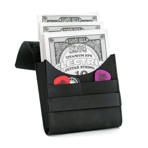 Case guitar strings / picks - String Box - Pouch / Etui - Black