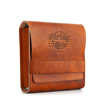 Case guitar strings - String Box - Pouch - Cognac