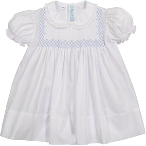 Vintage Smocked Bodice Dress