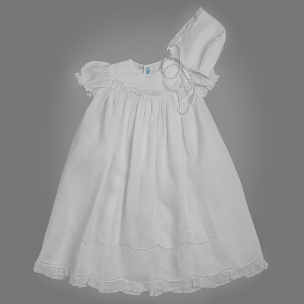 Girls Smocked Special Occasion Gown Set
