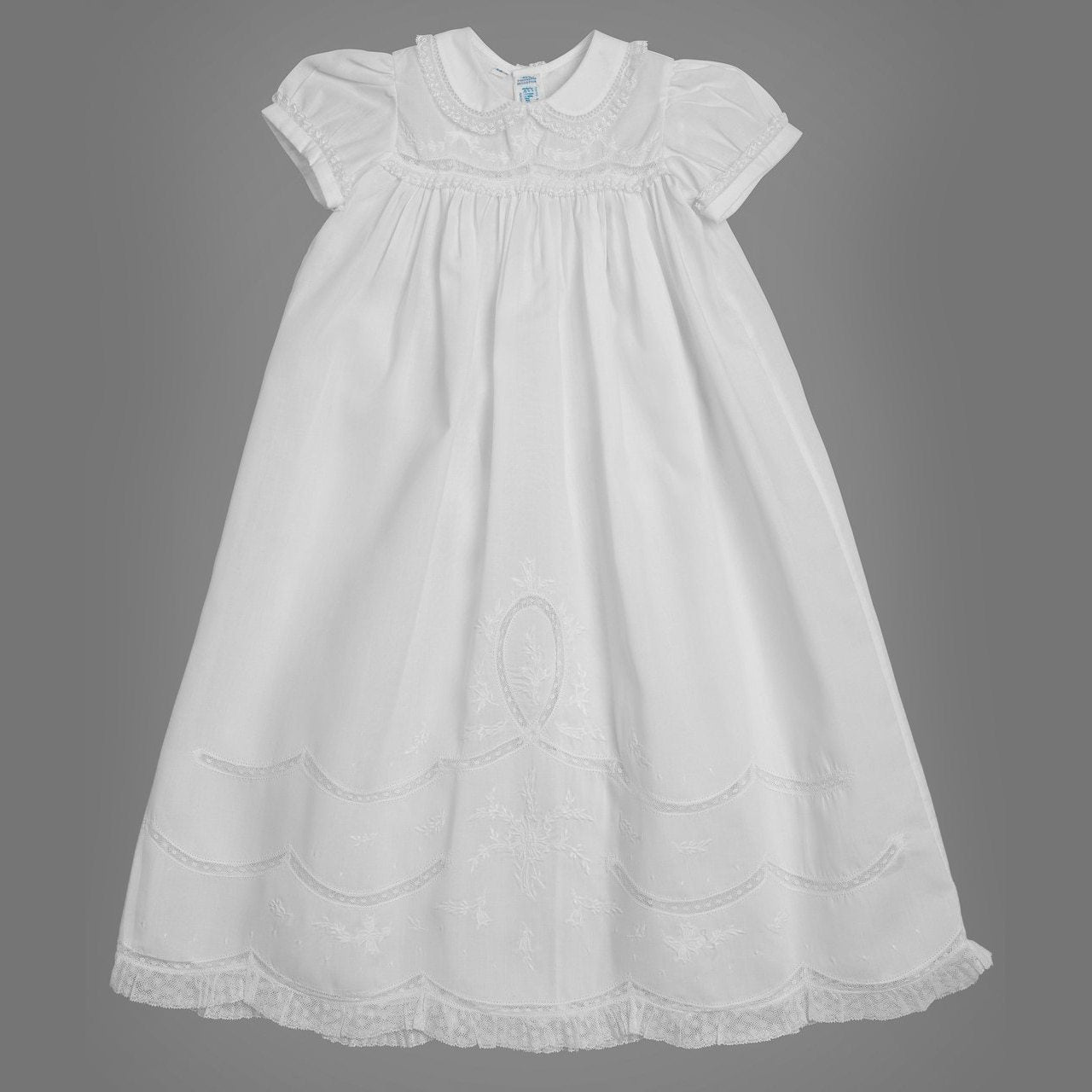 Girls Scalloped Lace Special Occasion Gown Set