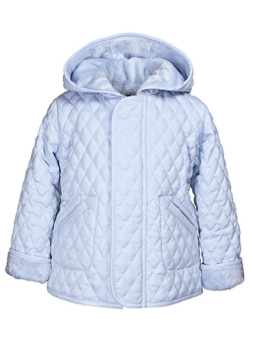Widgeon Light Blue Hooded Barn Jacket
