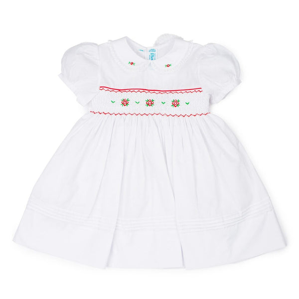 Short Sleeve Smocked Holiday Dress