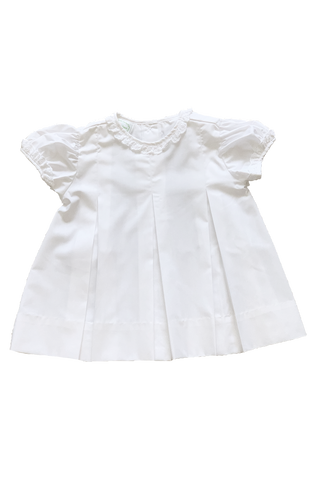 White Blank Pleated Dress