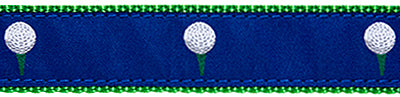 Blue Golf Ball Belt
