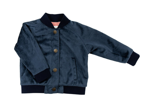 Bomber Jacket in Navy Blue