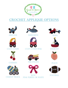 Crochet Applique Options