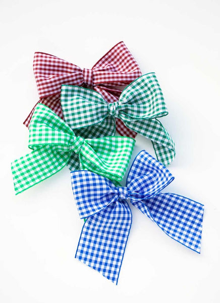 Gingham Sailor Bow Hair Tie