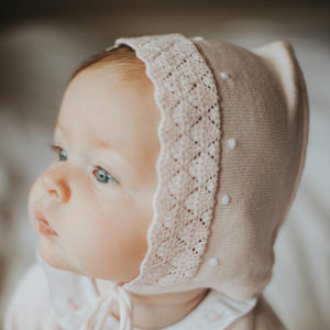 Dot Diamond Knit Bonnet