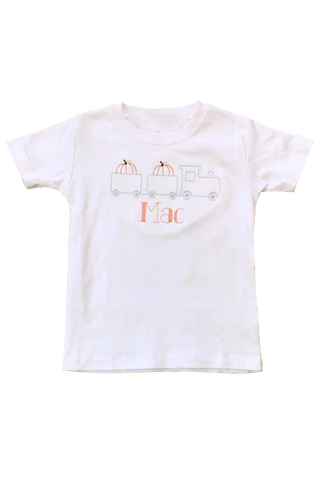 Pumpkin Train Embroidery Shirt