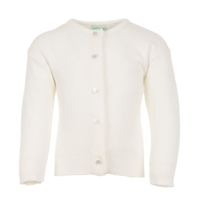Julius Berger Ivory Cotton Cashmere Cardigan